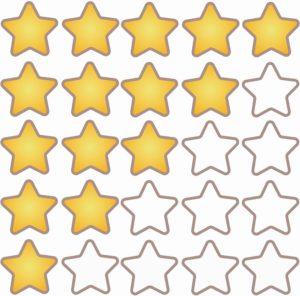 星の5段階評価
