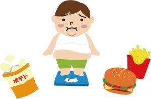 偏食で太っている男性