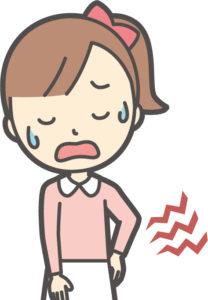 腰痛の女の子