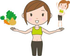 食事と運動で健康的な女性