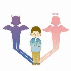 天使と悪魔の影