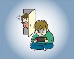 スマホのゲームに依存する子供